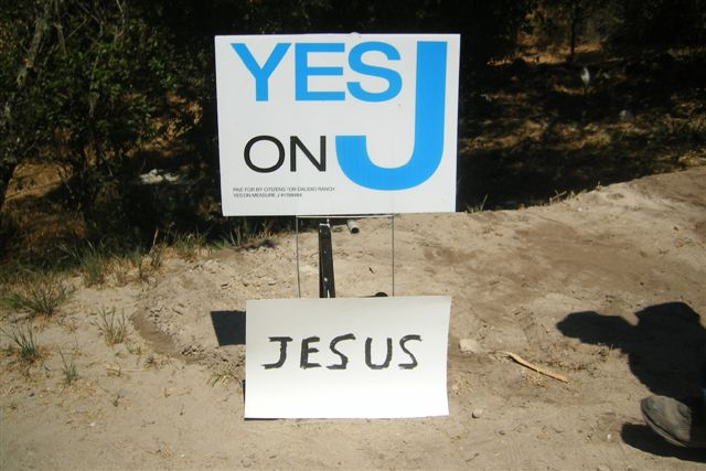 The answer to the weight problem is in God?s level. Jesus levels us by his sacrifice on the cross. so vote YES on the proposition  of Jesus for Salvation