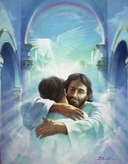 A welcoming hug from Jesus